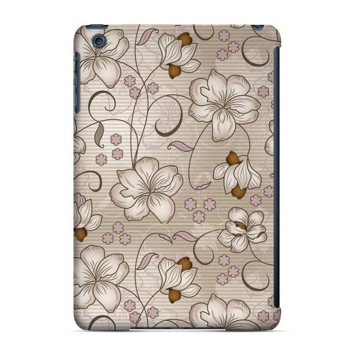 Geeks Designer Line (GDL) Slim Hard Case for Apple iPad Mini - Floral Stripes Linen