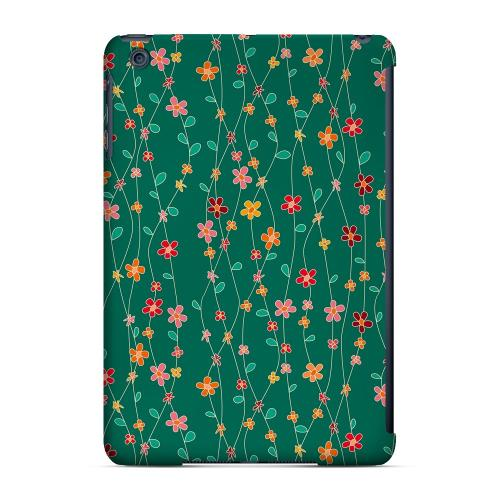 Geeks Designer Line (GDL) Slim Hard Case for Apple iPad Mini - Flowers & Vines on Green