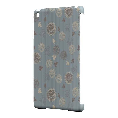 Geeks Designer Line (GDL) Slim Hard Case for Apple iPad Mini - Leaves Scribble Blue/ Brown