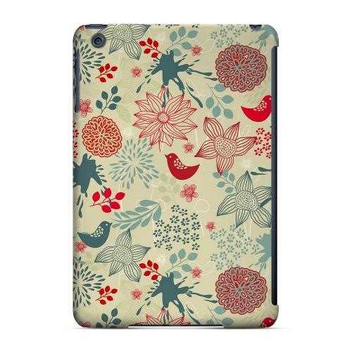 Geeks Designer Line (GDL) Slim Hard Case for Apple iPad Mini - Lovebird Floral Splatter