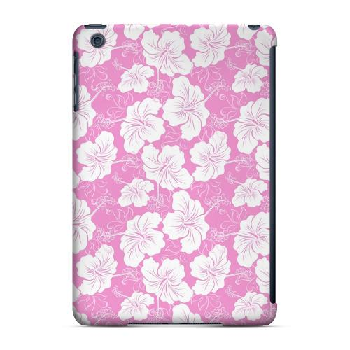 Geeks Designer Line (GDL) Slim Hard Case for Apple iPad Mini - White Hibiscus on Pink