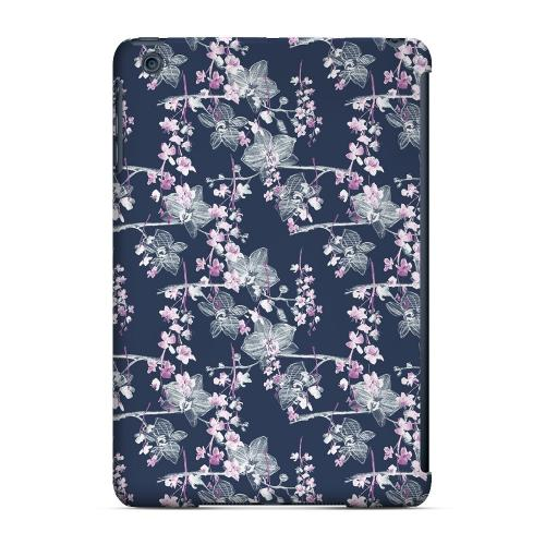 Geeks Designer Line (GDL) Slim Hard Case for Apple iPad Mini - Pink/ White Floral on Blue