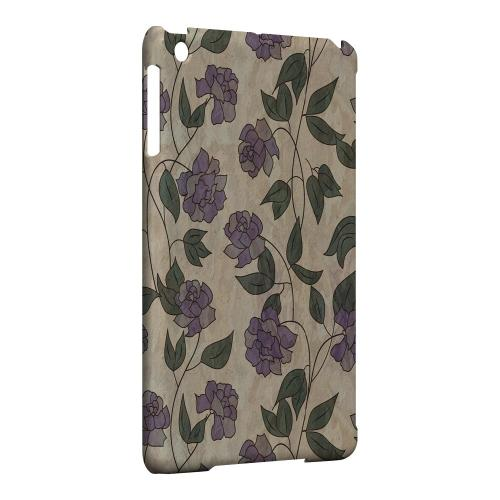 Geeks Designer Line (GDL) Slim Hard Case for Apple iPad Mini - Purple Flowers & Vines Wallpaper