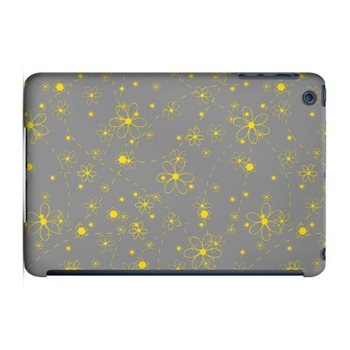 Geeks Designer Line (GDL) Slim Hard Case for Apple iPad Mini - Yellow Daisies on Gray