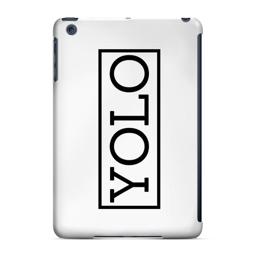 Geeks Designer Line (GDL) Slim Hard Case for Apple iPad Mini - Black/ White YOLO