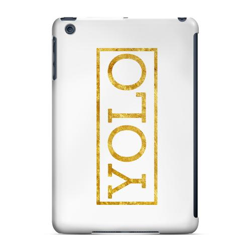 Geeks Designer Line (GDL) Slim Hard Case for Apple iPad Mini - Gold YOLO