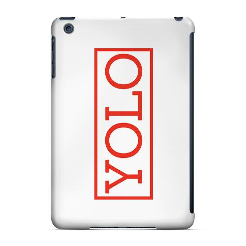 Geeks Designer Line (GDL) Slim Hard Case for Apple iPad Mini - Red YOLO