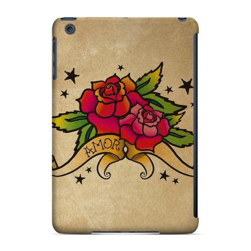 Geeks Designer Line (GDL) Slim Hard Case for Apple iPad Mini - Armor Rose Grunge