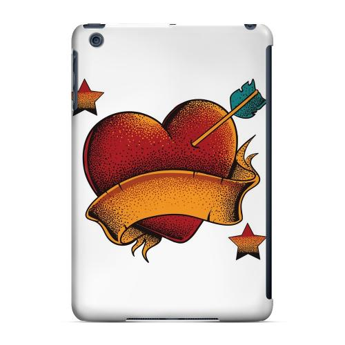 Geeks Designer Line (GDL) Slim Hard Case for Apple iPad Mini - Arrow In The Heart on White