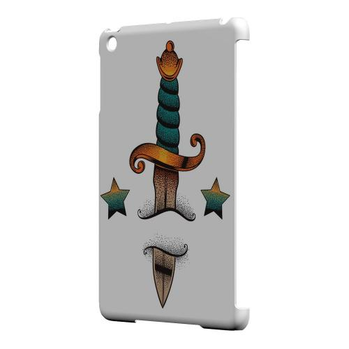 Geeks Designer Line (GDL) Slim Hard Case for Apple iPad Mini - Dagger on White