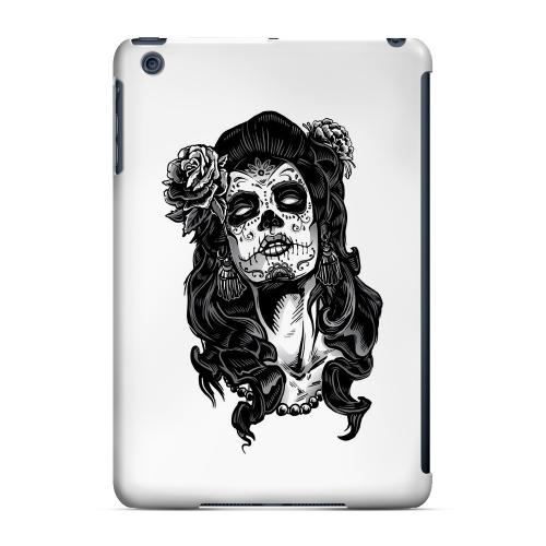 Geeks Designer Line (GDL) Slim Hard Case for Apple iPad Mini - Day of the Dead Girl on White