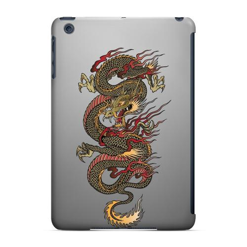 Geeks Designer Line (GDL) Slim Hard Case for Apple iPad Mini - Dragon on Gray Gradient