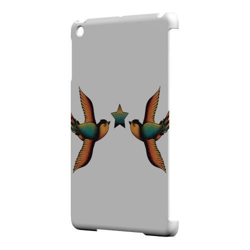 Geeks Designer Line (GDL) Slim Hard Case for Apple iPad Mini - Dual Swallow Star on White