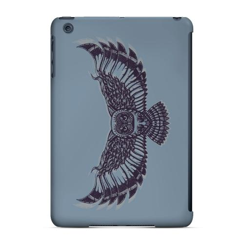 Geeks Designer Line (GDL) Slim Hard Case for Apple iPad Mini - Flying Owl Blue/ Gray