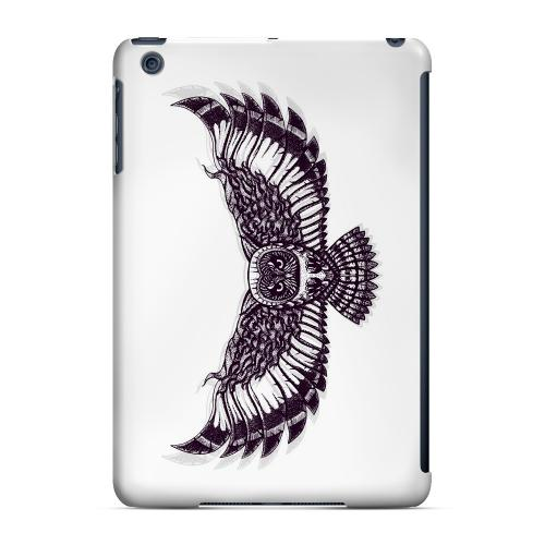 Geeks Designer Line (GDL) Slim Hard Case for Apple iPad Mini - Flying Owl on White