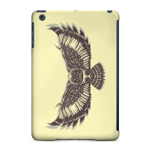 Geeks Designer Line (GDL) Slim Hard Case for Apple iPad Mini - Flying Owl on Yellow