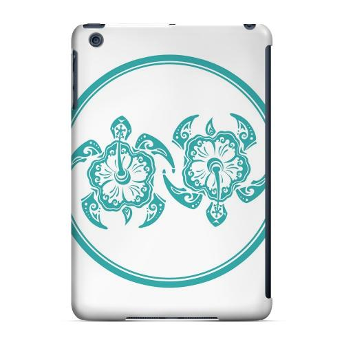 Geeks Designer Line (GDL) Slim Hard Case for Apple iPad Mini - Aqua Island Turtle Duo