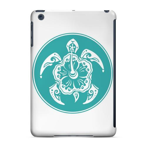 Geeks Designer Line (GDL) Slim Hard Case for Apple iPad Mini - Aqua Island Turtle Solo