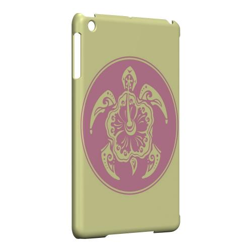 Geeks Designer Line (GDL) Slim Hard Case for Apple iPad Mini - Pink Island Turtle Solo on Yellow