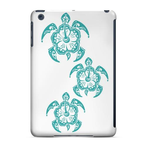 Geeks Designer Line (GDL) Slim Hard Case for Apple iPad Mini - Aqua Island Turtle Trail