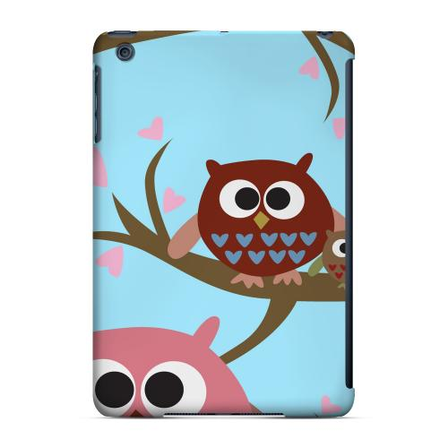 Geeks Designer Line (GDL) Slim Hard Case for Apple iPad Mini - Round Owl Hangout