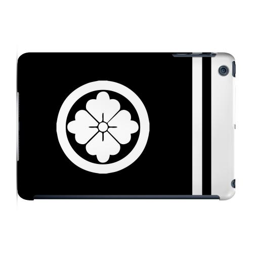 Geeks Designer Line (GDL) Slim Hard Case for Apple iPad Mini - White Hanabishi Kamon w/ Stripe
