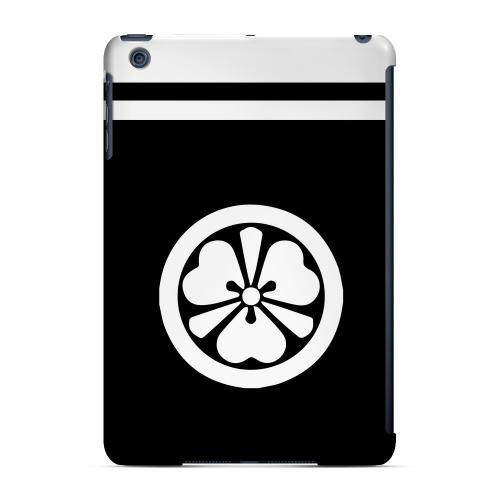 Geeks Designer Line (GDL) Slim Hard Case for Apple iPad Mini - White Katabami Kamon w/ Stripe v.3