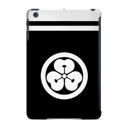 Geeks Designer Line (GDL) Slim Hard Case for Apple iPad Mini - White Katabami Kamon w/ Stripe v.4