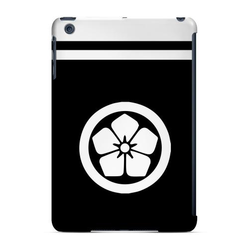 Geeks Designer Line (GDL) Slim Hard Case for Apple iPad Mini - White Kikyo Kamon w/ Stripe v.1