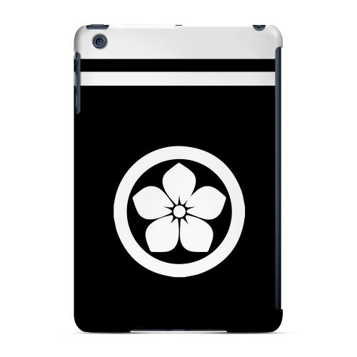 Geeks Designer Line (GDL) Slim Hard Case for Apple iPad Mini - White Kikyo Kamon w/ Stripe v.2