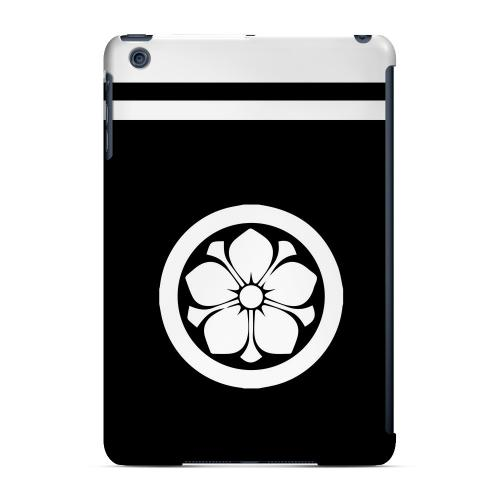 Geeks Designer Line (GDL) Slim Hard Case for Apple iPad Mini - White Kikyo Kamon w/ Stripe v.3
