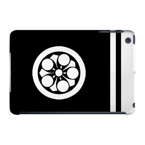 Geeks Designer Line (GDL) Slim Hard Case for Apple iPad Mini - White Umebachi Kamon w/ Stripe v.2