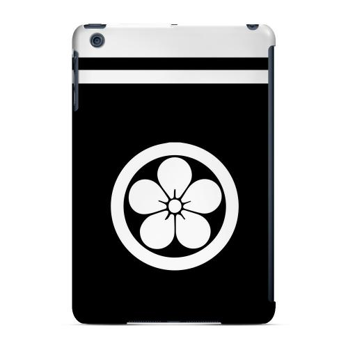 Geeks Designer Line (GDL) Slim Hard Case for Apple iPad Mini - White Umebachi Kamon w/ Stripe v.3
