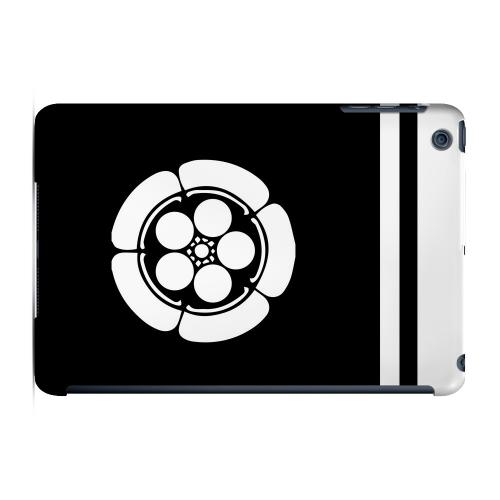 Geeks Designer Line (GDL) Slim Hard Case for Apple iPad Mini - White Umebachi Kamon w/ Stripe v.4