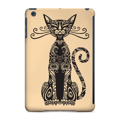 Geeks Designer Line (GDL) Slim Hard Case for Apple iPad Mini - Kitty Nouveau on Peach