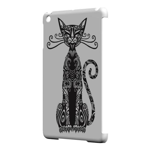 Geeks Designer Line (GDL) Slim Hard Case for Apple iPad Mini - Kitty Nouveau on White