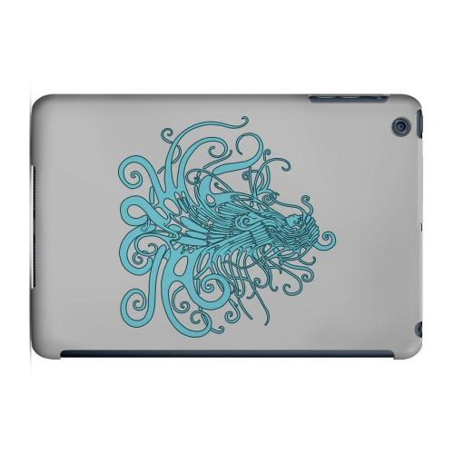 Geeks Designer Line (GDL) Slim Hard Case for Apple iPad Mini - Aqua Medusa on White