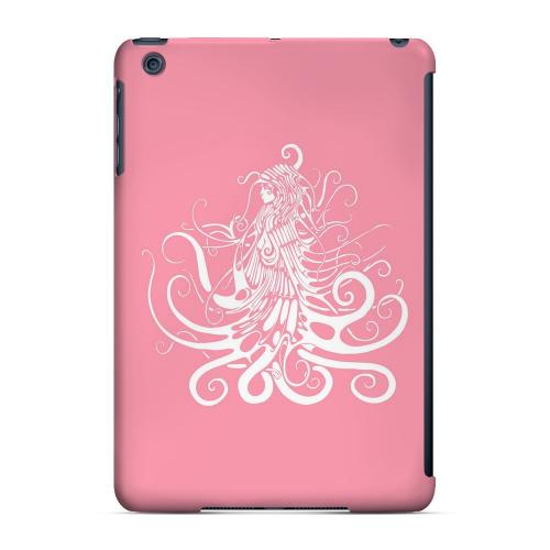 Geeks Designer Line (GDL) Slim Hard Case for Apple iPad Mini - White Medusa on Pink