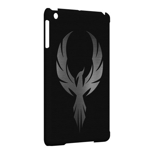 Geeks Designer Line (GDL) Slim Hard Case for Apple iPad Mini - Phoenix Metal on Dark Gray Texture