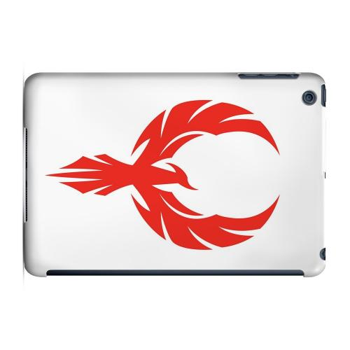 Geeks Designer Line (GDL) Slim Hard Case for Apple iPad Mini - Phoenix Red on White