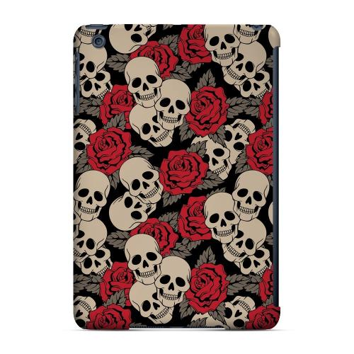 Geeks Designer Line (GDL) Slim Hard Case for Apple iPad Mini - Rose Skulls