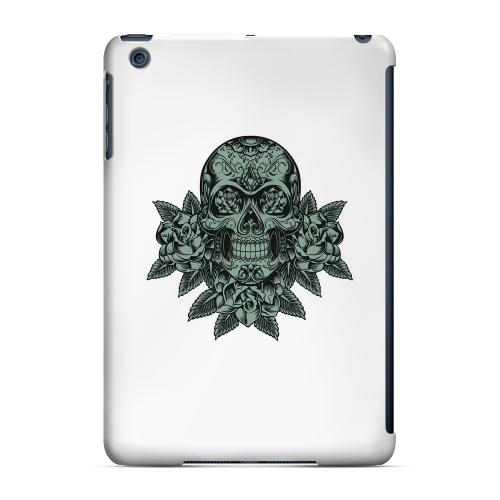 Geeks Designer Line (GDL) Slim Hard Case for Apple iPad Mini - Skull Roses Aqua