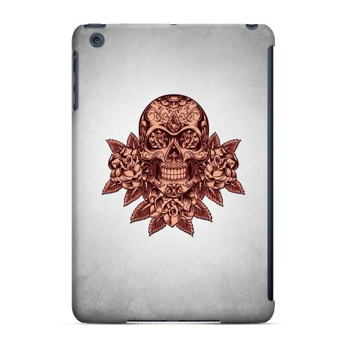 Geeks Designer Line (GDL) Slim Hard Case for Apple iPad Mini - Skull Roses Red Grunge