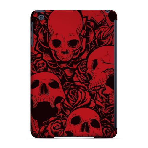 Geeks Designer Line (GDL) Slim Hard Case for Apple iPad Mini - Skulls Rose Red/ Black