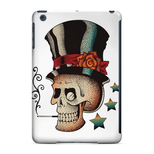 Geeks Designer Line (GDL) Slim Hard Case for Apple iPad Mini - Smoking Skull on White