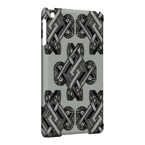 Geeks Designer Line (GDL) Slim Hard Case for Apple iPad Mini - Tribal Art on Gray
