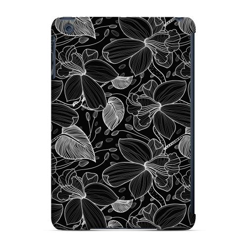 Geeks Designer Line (GDL) Slim Hard Case for Apple iPad Mini - White on Black Orchid Lines