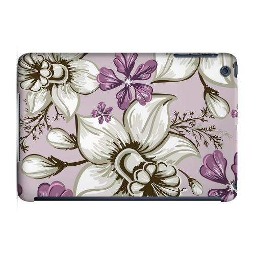 Geeks Designer Line (GDL) Slim Hard Case for Apple iPad Mini - White and Violet Orchids