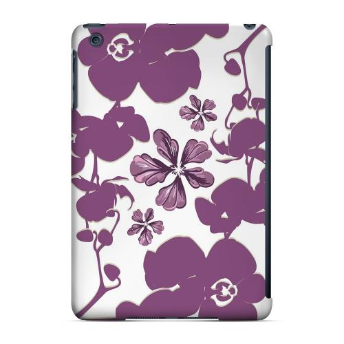 Geeks Designer Line (GDL) Slim Hard Case for Apple iPad Mini - Purple Orchids