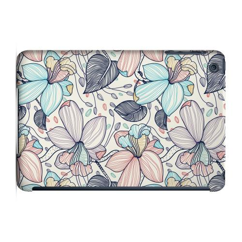 Geeks Designer Line (GDL) Slim Hard Case for Apple iPad Mini - Colorful Orchid Lines